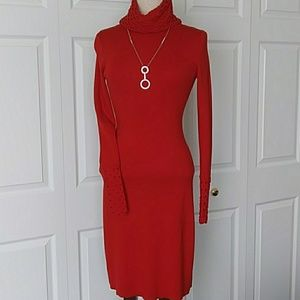 MODA International red knit dress
